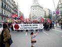 Miles de personas recorren el centro de Barcelona para defender el 'no'