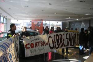CGT informa que los trabajadores y trabajadoras de SAS ocupan pacificamente el concesionario Seat de Martorell