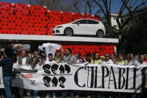 Los trabajadores y trabajadoras de SAS se concentran en las puertas del Open SEAT Godó de tenis de Barcelona