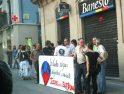 Concentración en Iruña en solidaridad con el pueblo mexicano