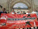 Burgos. La CGT protesta por el despido de un trabajador del servicio de limpieza