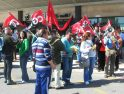 CGT se concentró en Cáceres contra la agresión sufrida por su delegado y por la libertad sindical.
