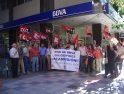 Concentración de CGT frente al BBVA en Ponferrada