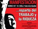 4 octubre, Sevilla: Manifestación «Ante la Crisis, Reparto del Trabajo y la Riqueza»