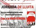 CGT Catalunya: Llamamiento a la huelga general del sector  público el 8 de junio y a participar en las manifestaciones convocadas  por CGT