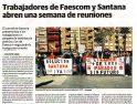 Conflicto Faescom y Santana, y concentración de CGT Linares (prensa)