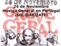 Huelga General en Portugal: Concentración de apoyo en Sevilla