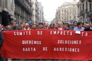 Según informa CGT, paro total de los Autobuses de Barcelona, éxito del paro convocado