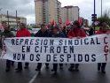 Manifestación en Vigo por la readmisión de los despedidos en Citroën
