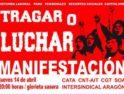 Zaragoza: Manifestación «Tragar o luchar»