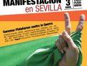 Manifestación en Sevilla contra la guerra en Libia (3 abril)