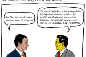 Pereyra: «Zapatero en China»