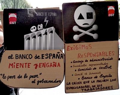 Madrid: Concentración por un convenio digno en Banca y Ahorro