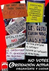 CGT Girona: El 20-N abstención activa y boicot a las elecciones