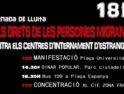 Día de lucha por los derechos de las personas migradas y por el cierre de los CIE's