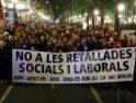 Tarragona: Más de 2.000 funcionarios salen a la calle para rechazar los recortes