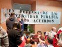 Encierro de los representantes de los trabajadores de la Universidad de Alcalá