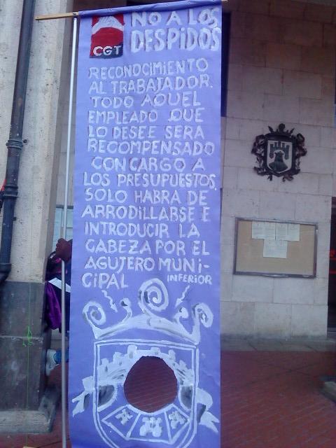 Burgos: CGT en el Pleno Municipal frente a los despidos en el Ayuntamiento
