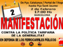 Barcelona: Manifestación por el futuro de los ferroviarios