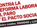 CGT Málaga integrará el bloque crítico en la Manifestación del 29F