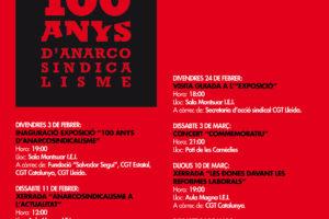 Inauguración y actos de la exposición «100 años de anarcosindicalismo» en Lleida