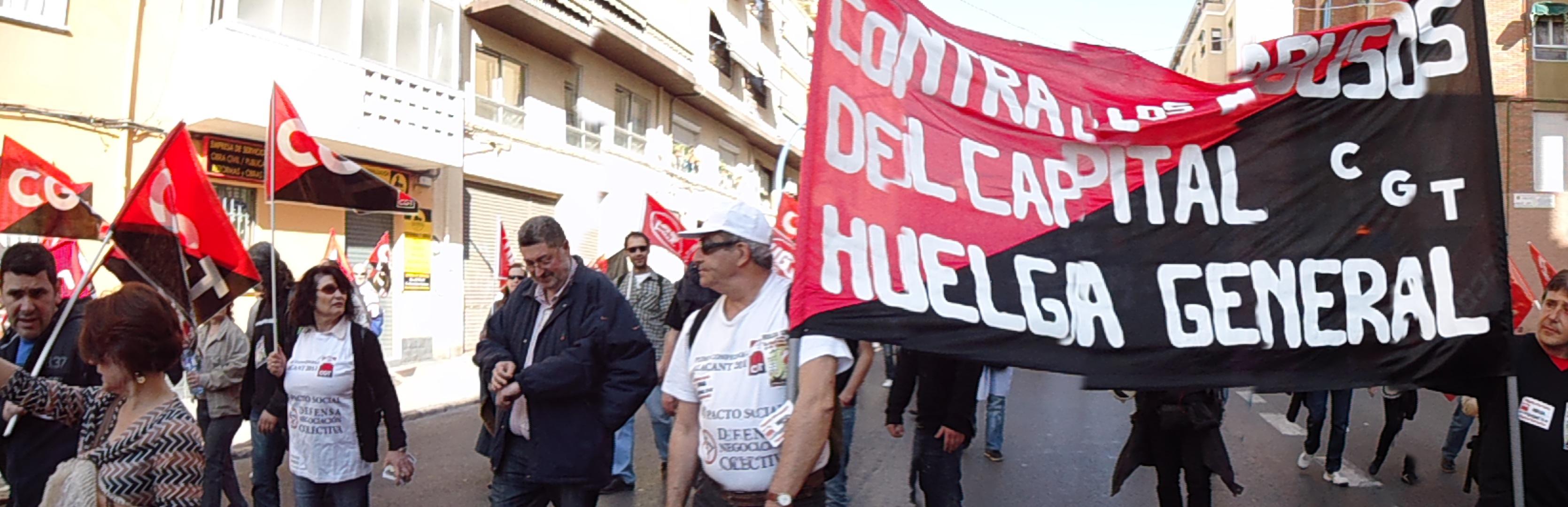 La huelga general del 29M en Alicante