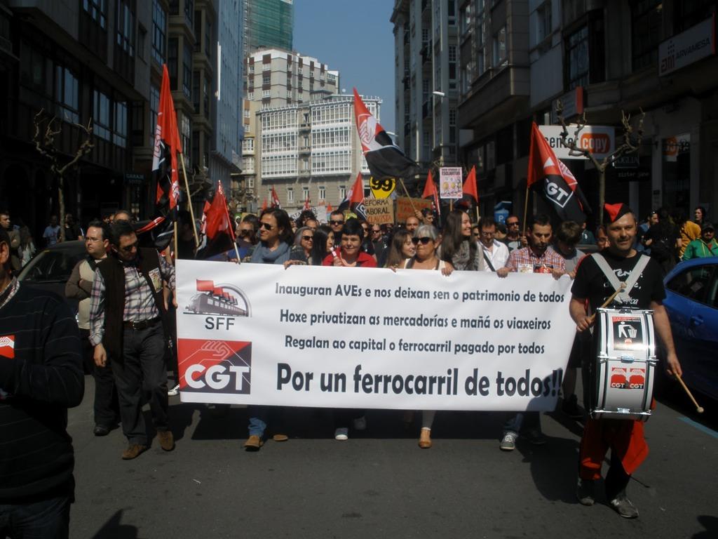 Fotos Manifestación de A Coruña la jornada de huelga general