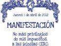 Madrid: Manifestación Atea en Jueves Santo