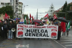 Manifestación de CGT en Vélez-Málaga contra las reformas laborales