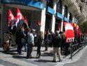 Concentración de CGT en el Banco Sabadell de Madrid