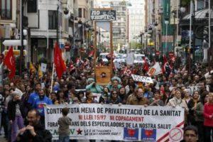 Crónica de la Manifestación por la Sanidad pública en Valencia