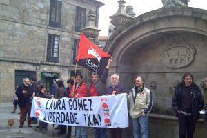Concentración en Pontevedra por la libertad de Laura Gómez