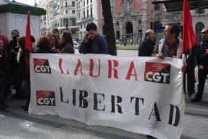 CGT exige la libertad de Laura en Madrid