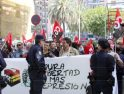 Grave represión a la manifestación de CGT en Vialia Málaga