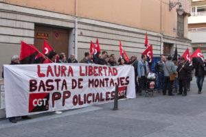 Concentración de la CGT en Valladolid por la libertad de Laura