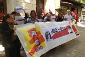 Concentración en Palma de Mallorca en apoyo a Laura