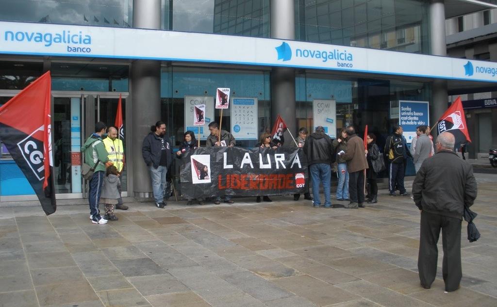 Concentración na Coruña pola liberdade de LAURA GOMEZ