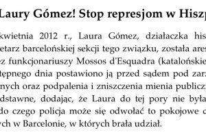 Iniciativa de Trabajadores -Inicjatywy Pracowniczej- de Polonia con Laura Gómez