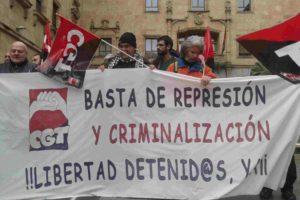 La CGT de Salamanca exige la liberación de Laura