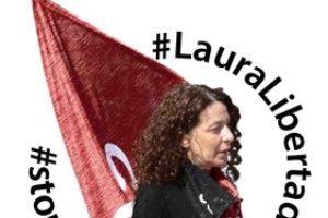 Ni hay justicia, ni democracia. ¡Laura libertad!