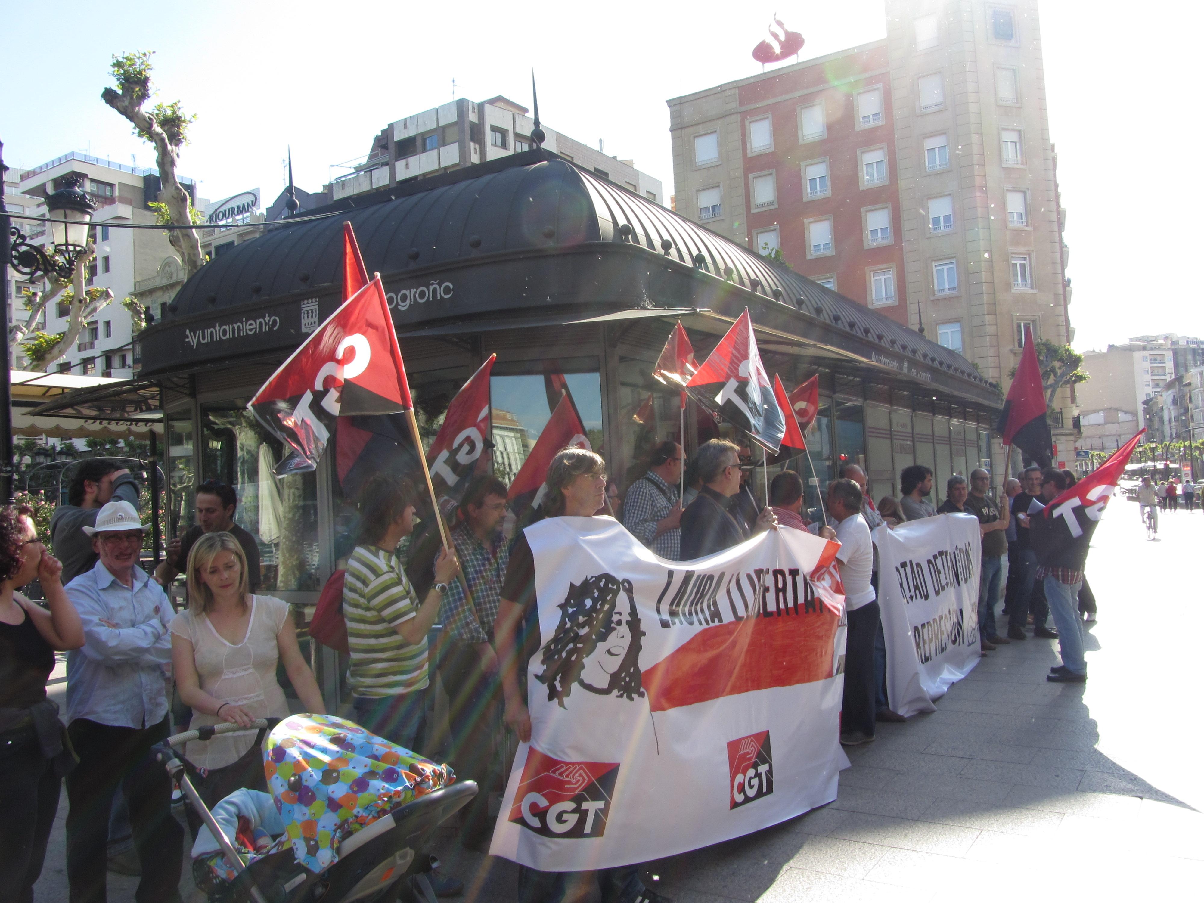 Logroño: concentración por la libertad de Laura