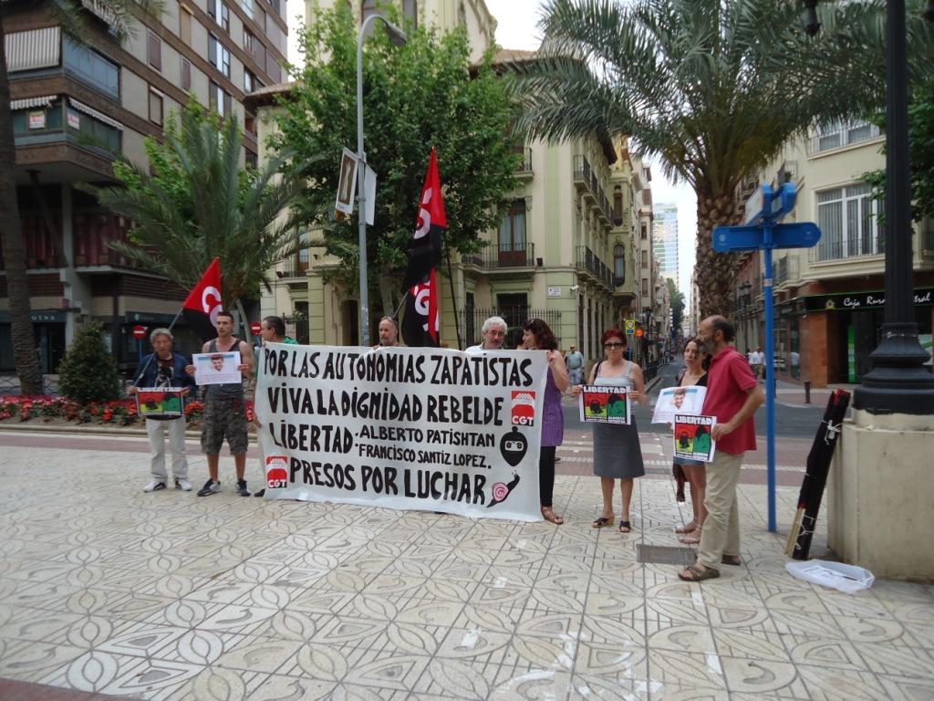 Concentración en apoyo a la autonomía y presos zapatistas