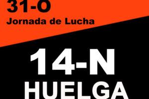 Cgt Registra su convocatoria de Huelga General para el 14 de Noviembre