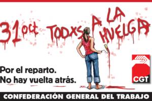 CGT lanza una nueva web sobre la Huelga General del 31 de Octubre