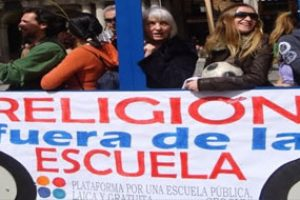 Por una Escuela Pública y Laica, ¡Religión fuera de la Escuela!