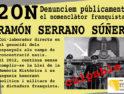Castellón: Denunciamos públicamente al nomenclátor franquista