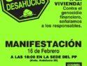 Manifestación 16FEB. STOP Desahucios- Málaga