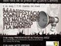 Manifestación contra la tortura, los maltratos institucionales y la impunidad, el 4 de mayo en Barcelona