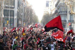CGT Barcelona. Actos de apoyo ante los juicios por las movilizaciones de la Huelga General 29-M 2012