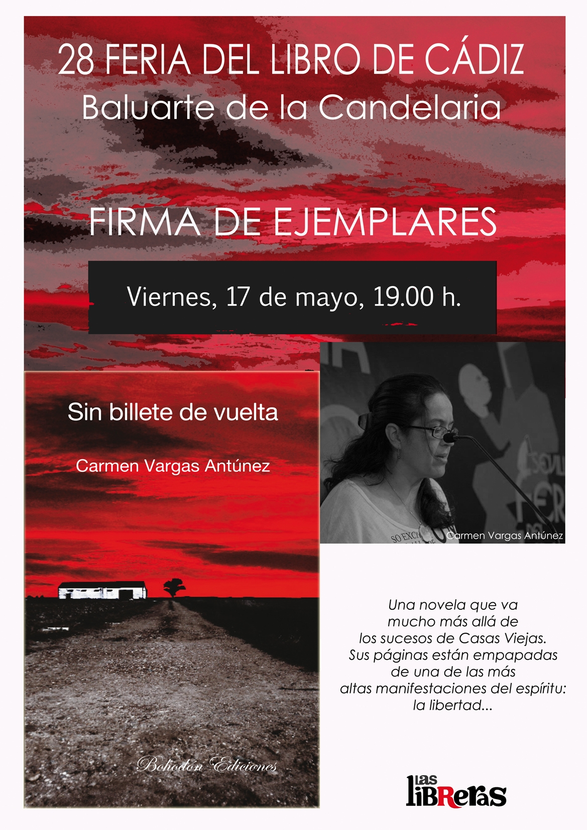 Firma de ejemplares de la novela «Sin billete de vuelta». Feria del libro de Cádiz